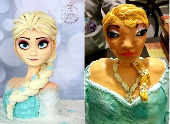 Công chúa Elsa xấu lạ.