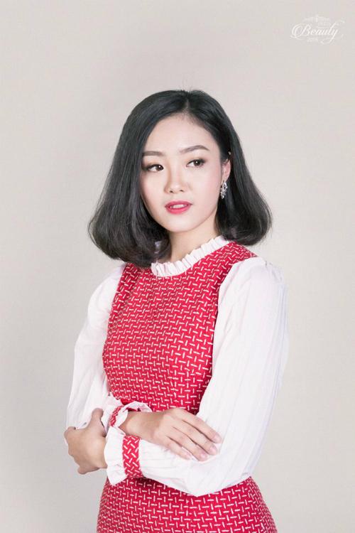 Nguyễn Hồng Ngọc (21 tuổi), hiện đang làsinh viên lớp Quảng cáo k35. Đây là lần thứ 2 nữ sinhtham dựPress Beauty. Ngọc cho biết cuộc thi chính là trải nghiệm quý giá trong quãng đời sinh viên