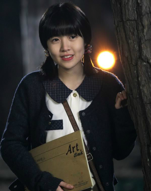 Shim Eun Kyung thuở còn đóng vai cô học sinh Im Na Mi trongSunny.