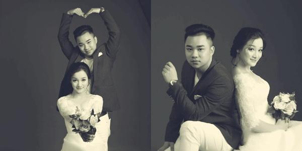 Ảnh cưới của Hữu Công và bạn gái.