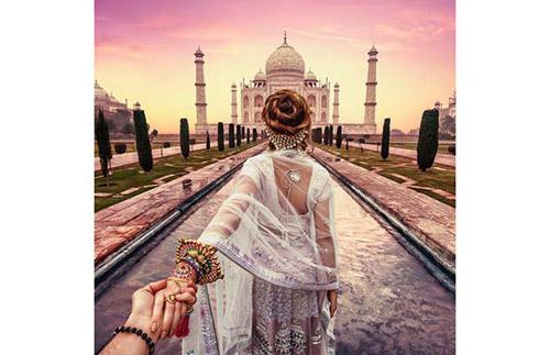Bức ảnh chụp tại đền Taj Mahal với khung cảnh vắng vẻ đáng ngạc nhiên.