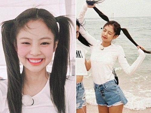 Những style buộc tóc vừa cute, vừa ngầu của Jennie (Black Pink) - 5