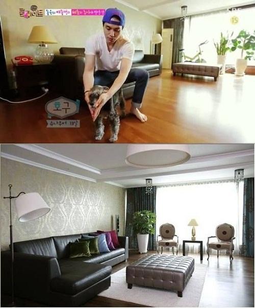 Căn nhà sang chành của Lee Dong Wook được tiết lộ trên truyền hình.