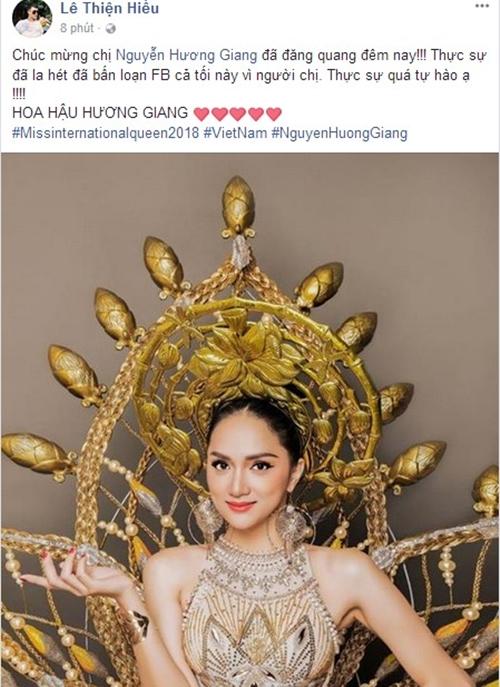 Sao Việt phấn khích mừng Hương Giang Idol đăng quang Hoa hậu Chuyển giới