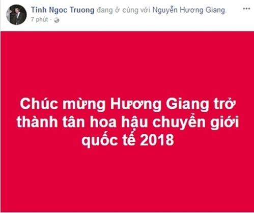 Sao Việt phấn khích mừng Hương Giang Idol đăng quang Hoa hậu Chuyển giới - 1