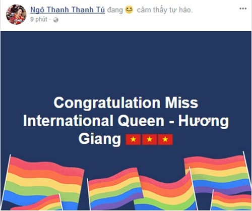Sao Việt phấn khích mừng Hương Giang Idol đăng quang Hoa hậu Chuyển giới - 2