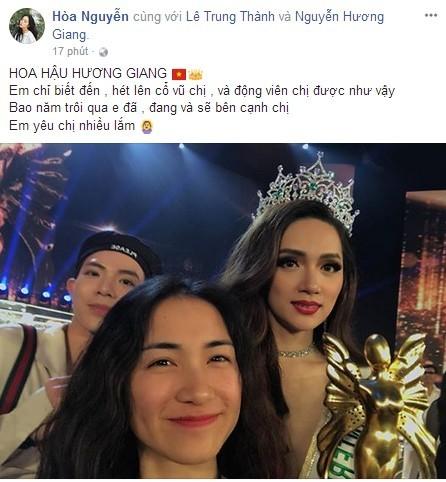 Sao Việt phấn khích mừng Hương Giang Idol đăng quang Hoa hậu Chuyển giới - 4