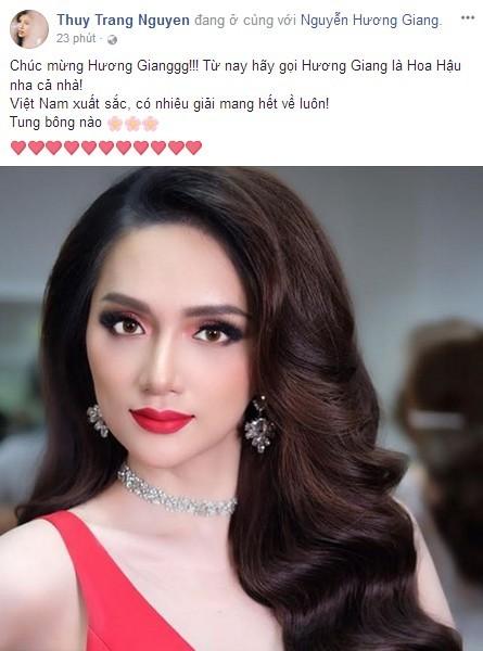Sao Việt phấn khích mừng Hương Giang Idol đăng quang Hoa hậu Chuyển giới - 5