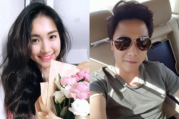 Hòa Minzy và bạn trai mới.
