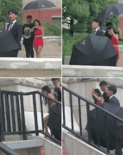 Chỉ vì chiếc ô: Krystal bị chê chảnh chọe, idol nam được khen hết lời - 4