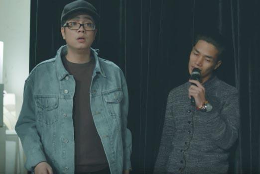Lệ Rơi đóng phim ca nhạc với Bùi Anh Tuấn.