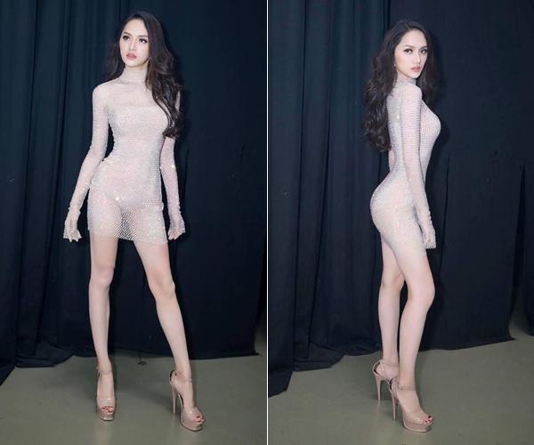 Hòa Minzy bắt chước may váy giống hệt Hương Giang - 1