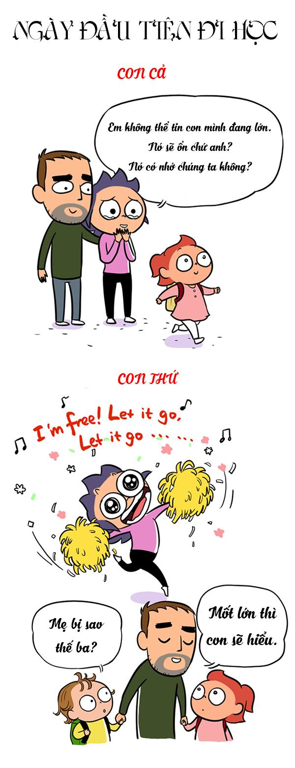 Tranh vui: Khác biệt trời vực giữa con cả và con thứ - 3