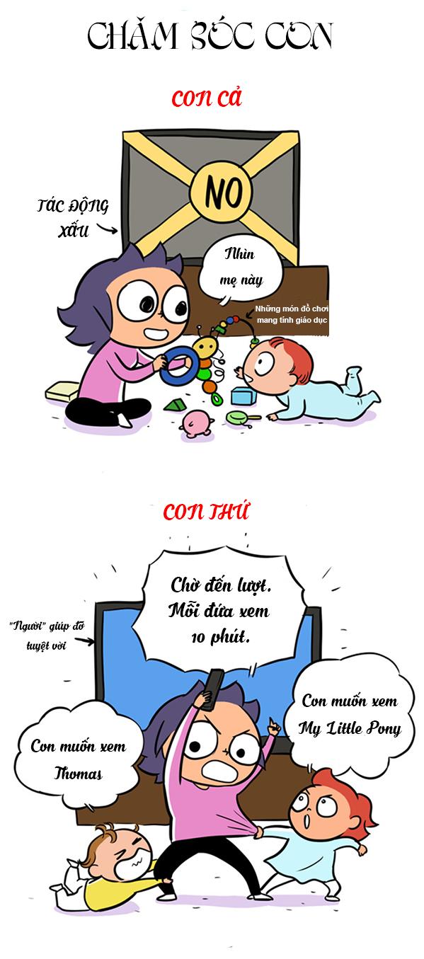 Tranh vui: Khác biệt trời vực giữa con cả và con thứ - 7