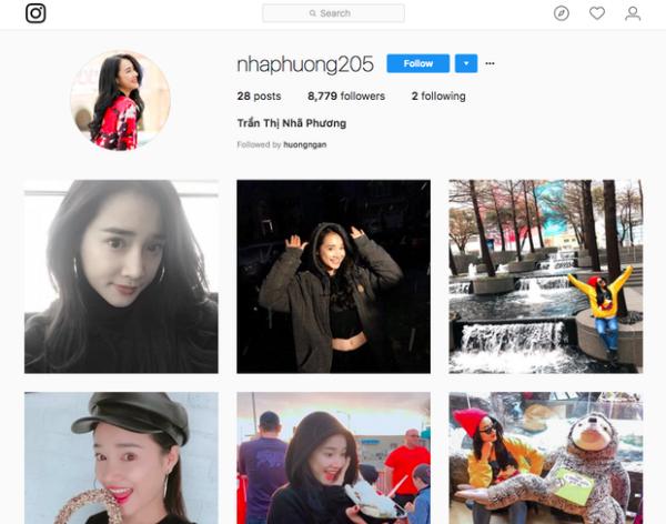 Đây mới chính là tài khoản Instagram thật của Nhã Phương.
