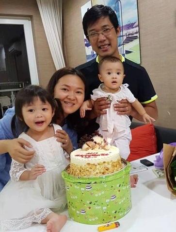 Gia đình 4 người hạnh phúc may mắn thoát chết tại chung cư Carina.