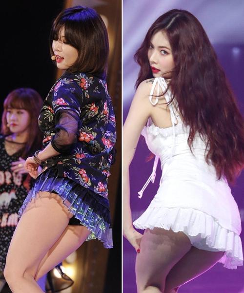 Những bộ váy ngắn cũn khiến khán giả đỏ mặt của idol nữ Kpop - 12