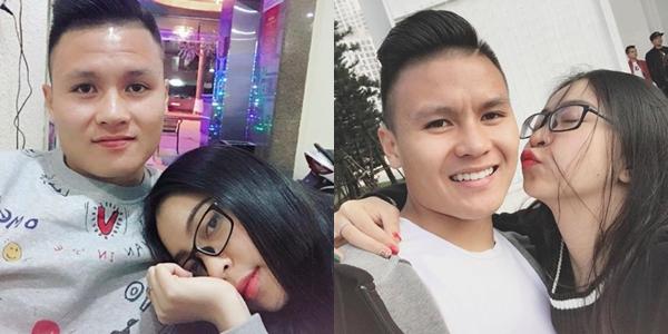 Quang Hải ngọt ngào bên bạn gái khi hẹn hò.