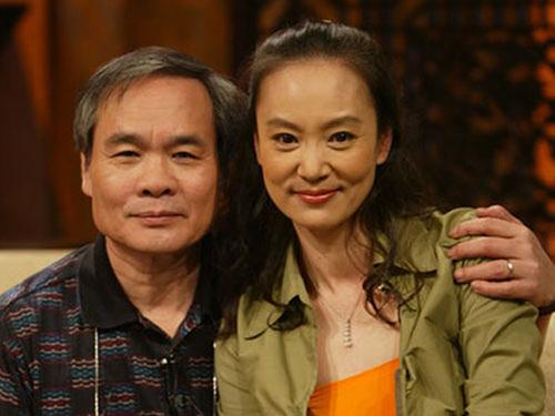 Lưu Tuyết Hoa và người chồng quá cố.