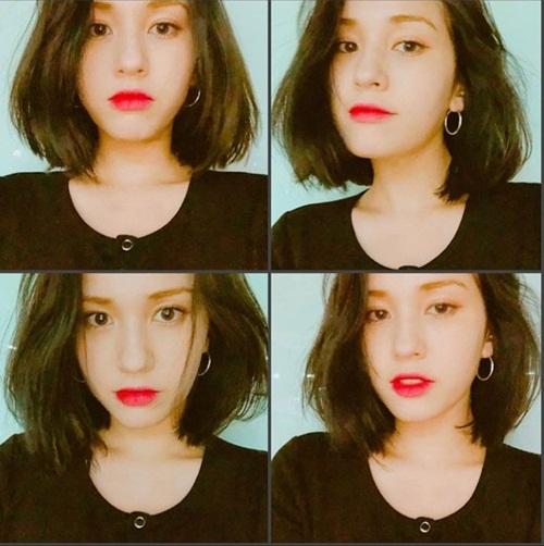 Ngày 10/4, Somi bất ngờ khoe mái tóc bob mới cắt. Thực tập sinh của JYP lần đầu cũng nhuộm tóc đen. Cô nàng muốn cắt bỏ phần chân tóc bị hỏng để nuôi tóc mới.