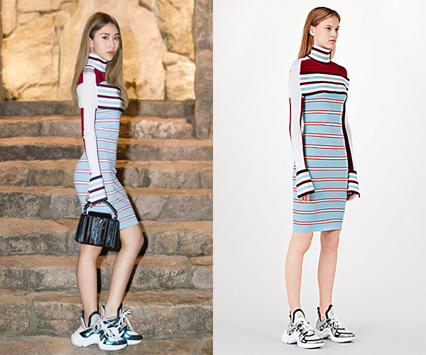 Quỳnh Anh Shyn mặc váy sexy với sneakers thô kệch đi tiệc Louis Vuitton - 2