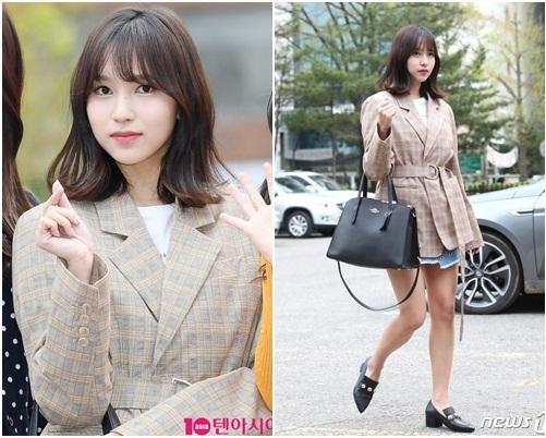 Mina vừa gây sốt với kiểu tóc mái thưa.
