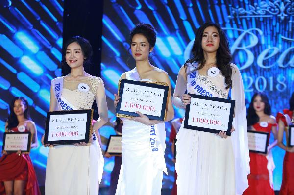 Top 3 thí sinh xuất sắc Press Beauty 2018.