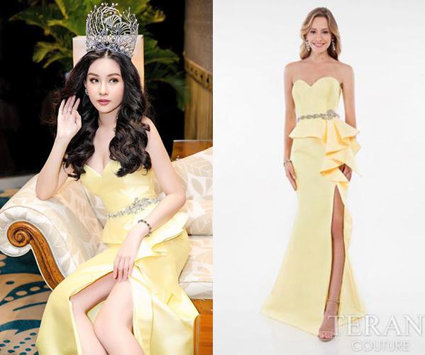 Hoa hậu Đại dương bức xúc vì váy hiệu mua ở Mỹ bị chê sến sẩm - 2