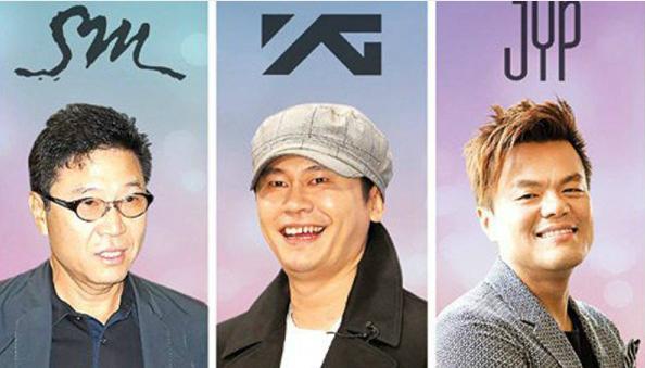 Ba ông lớn của ngành giải trí Hàn.