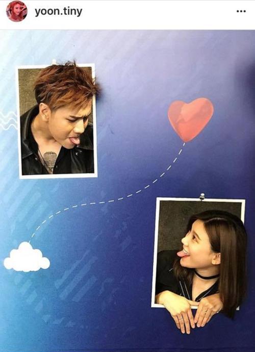 Cô gái chia sẻ hình ảnh ngọt ngào với một chàng trai có ngoại hình giống Lou Hoàng khiến fan càng thêm tò mò.