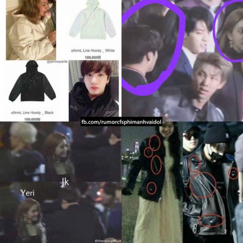 Yeri và Jung Kook có trang phục giống nhau.