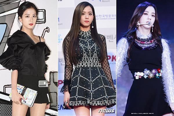 Ji Soo tuy là bạn thân của Jennie nhưng lại có vẻ ngoài và tính cách khác hẳn. Stylist luôn chọn cho cô nàng những bộ váy áo rất bánh bèo, thể hiện sự thanh lịch và nữ tính, đặc biệt là không bao giờ quá hở hang.
