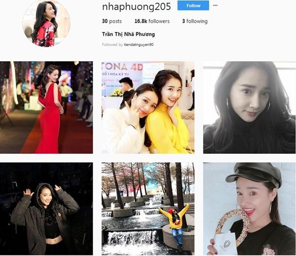 Đây là tài khoản Instagram chính chủ của Nhã Phương.