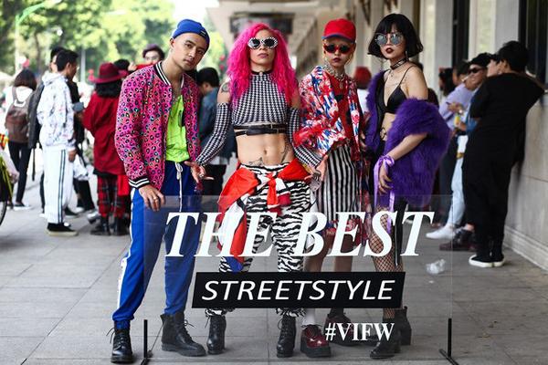 Không nên: Street style bên lề tuần lễ thời trang thường bị các bạn trẻ Việt biến thành sân khấu hoặc thậm chí... rạp xiếc để phô bày những bộ cánh quái dị nhất, màu sắc lòe loẹt nhất. Nhiều người cho rằng càng phối nhiều tầng lớp, khoác nhiều món đồ lên mình thì càng thể hiện được phong cách cá nhân, sự phá cách của những fashionista thứ thiệt.