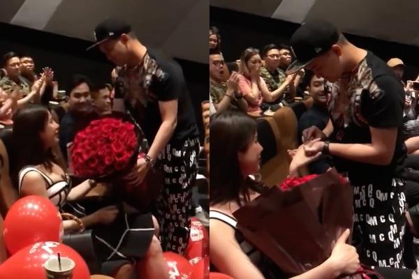 Những khoảnh khắc hạnh phúc của Diệp Lâm Anh khi được cầu hôn.