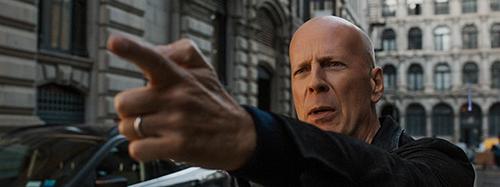 Hình ảnh mới nhất của Bruce Willis trong phim.