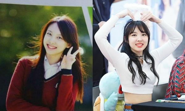 Những bức ảnh kỷ yếu của Na Yeon trở nên nổi tiếng vì quá xinh đẹp. Thành viên Twice sở hữu mái tóc dài, nụ cười và các đường nét không thề thay đổi so với hiện tại.