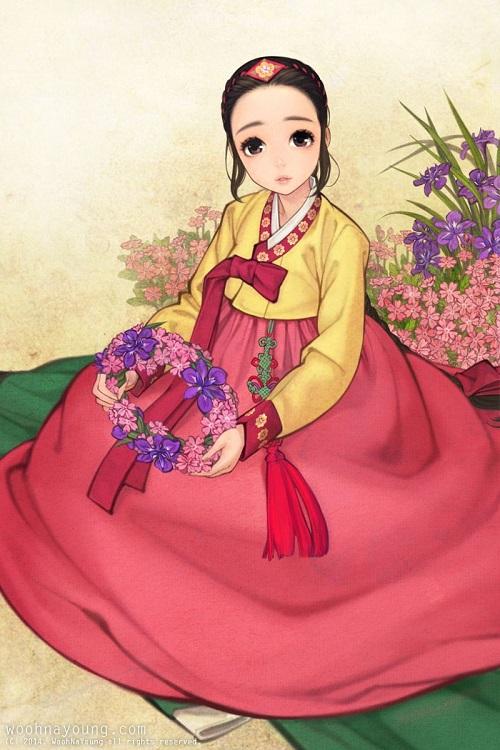 12 sao nữ khi mặc trang phục Hanbok truyền thống của Hàn - 10