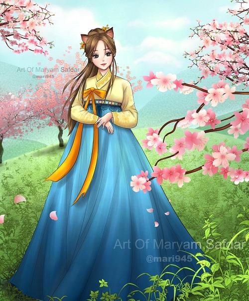 12 sao nữ khi mặc trang phục Hanbok truyền thống của Hàn - 8