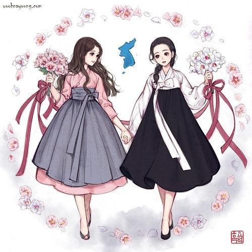 12 sao nữ khi mặc trang phục Hanbok truyền thống của Hàn - 2