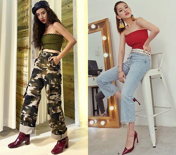 Những bộ cánh mà Quỳnh Anh Shyn làm stylist cho Chi Pu thể hiện rất rõ cá tính thời trang của cô nàng. Từ cách chọn quần áo đến phụ kiện đi kèm đều có sự tương đồng.