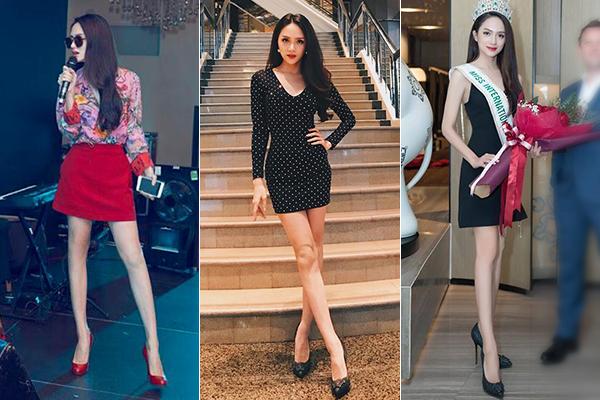 Nhược điểm chân khẳng khiu, đầu gối củ lạc của người đẹp chuyển giới sẽ lộ rõ khi cô diện váy ngắn, vì thế đây là kiểu đồ mà cô nên hạn chế mặc.