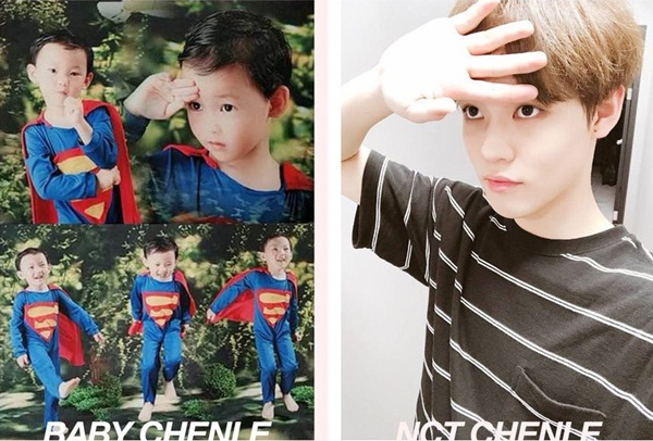 Siêu nhân Chen Le hồi nhỏ được chụp serie ảnh cute hết cỡ, cực ra dáng anh hùng chỉ thiếu mỗi cơ bụng.