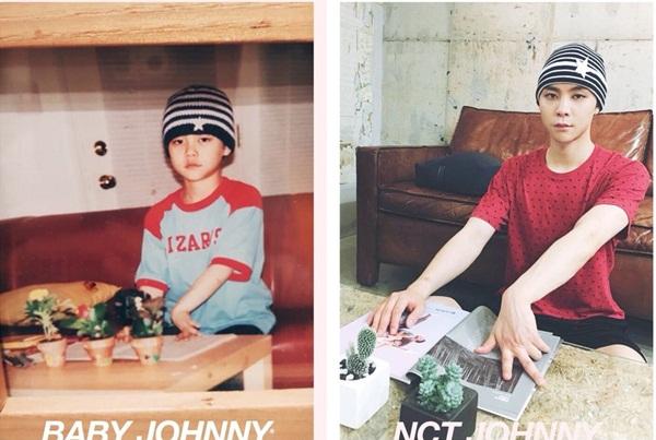 Áo có thể không giống nhưng mũ và biểu cảm của Johnny đã làm toát lên được thần thái lúc nhỏ.