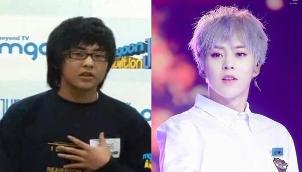 Khi đi thi tuyển vào SM, Xiu Min còn là một nam sinh có thân hình mũm mĩm, vẻ ngoài hết sức bình thường. Sau khi ra mắt cùng EXO, anh chàng lập tức trở thành mỹ nam.
