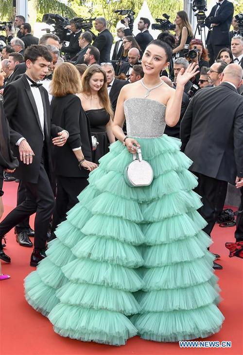 Phạm Băng Băng trên thảm đỏ Cannes.