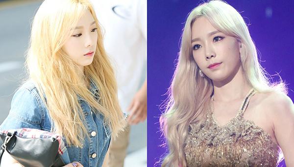 Hóa ra Tae Yeon cũng không phải có mái tóc nữ thần như nhiều người vẫn tưởng. Trước khi lên sân khấu, mái tóc đã qua tẩy nhuộm nhiều lần của cô nàng trông rất xơ xác.