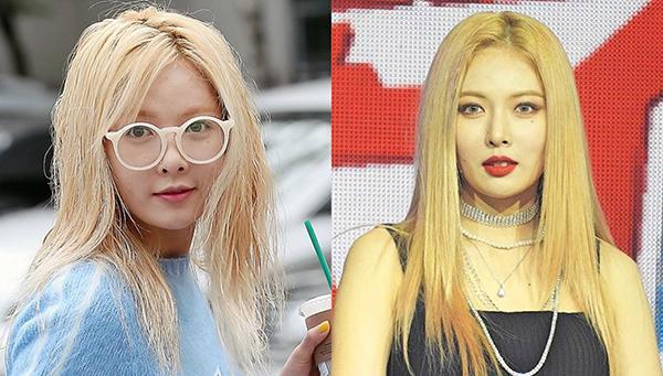 Nếu không có các chuyên gia làm tóc và trang điểm, Hyun Ah đã không thể biến hóa 180 độ từ cô gái mặt tròn xoe với tóc bết xơ thành mỹ nữ quyến rũ có kiểutóc ruồi đậu cũng trơn trượt như vậy.