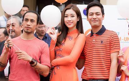 Phạm Anh Khoa xuất hiện với vai trò đại sứ cùng Hoa hậu Đỗ Mỹ Linh, MC Phan Anh.