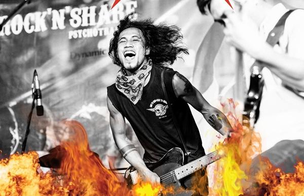 Hình ảnh của Phạm Anh Khoa được quảng bá cho đêm nhạc gây quỹ.